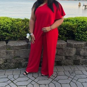 Adrianna Papell One Shoulder Jumpsuit